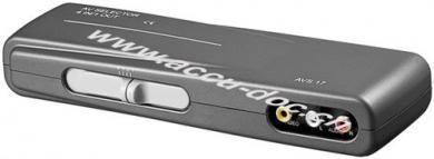 Audio-Video-Umschaltbox, 3x Cinch-Buchse, Schwarz - zum Anschluss von bis zu 4 Geräten an ein Fernsehgerät