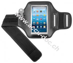 5'' Sportbag (Armband), Schwarz-Silber - für Samsung Galaxy S3,S2,S4 und HTC one