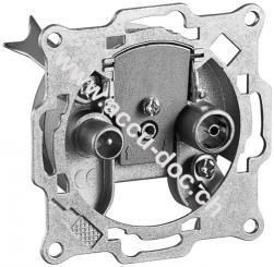 2-Loch Antennen-Stich-/End-Dose, Weiß - 1 dB Anschlussdämpfung