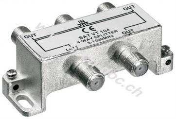 BK-Verteiler, 4-fach, 4 x out, Silber - Verteiler für BK-Anlagen 5 MHz - 1000 MHz