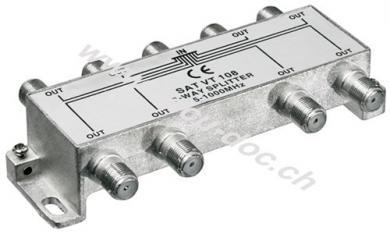 BK-Verteiler, 8-fach, 8 x out, Silber - Verteiler für BK-Anlagen 5 MHz - 1000 MHz