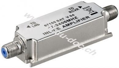 SAT/BK-Antennenverstärker 47 MHz - 2400 MHz, 1 Stk. im Plastikbeutel - Strecken-Nahverstärker zur Anhebung von Signalen