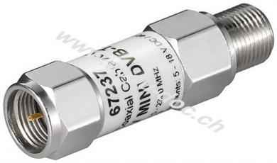 Mini Koaxialkabel-Verstärker 18 dB (DVB-T / SAT) - F-Stecker > F-Buchse, 5 MHz - 2300 MHz