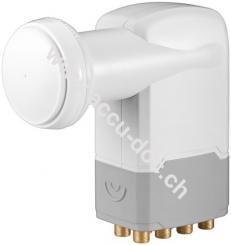 Universal Octo LNB, Weiß-Grau - digitaler SAT-LNB (DVB-S2) für 8 Teilnehmer (4K/UHD/HDTV/3D Empfang)