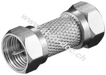 F-Verbinder: F-Stecker > F-Stecker, 1 Stk. im Plastikbeutel - Kupfer