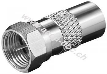 F-Adapter: F-Stecker > Koax-Stecker, Kupfer - Kupfer