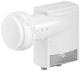 Universal Twin LNB, Grau-Weiß - digitaler SAT-LNB für 2 Teilnehmer (4K/HDTV/3D Empfang)