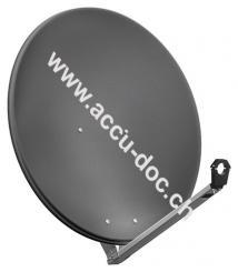 80 cm Alu-Satellitenspiegel, Anthrazit - für Ein-/Mehrteilnehmer mit besonders stabilem Feedarm
