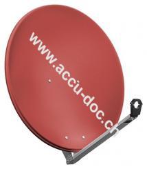 80 cm Alu-Satellitenspiegel, Ziegelrot - für Ein-/Mehrteilnehmer mit besonders stabilem Feedarm