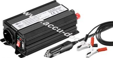 KFZ-Spannungswandler DC/AC, Schwarz - wandelt 12 V DC in 230 V AC um