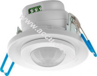 Infrarot-Bewegungsmelder, Weiß - zur Unterputz-Deckenmontage, 360° Erfassung, 8 m Reichweite, für Innen (IP20), LED-geeignet