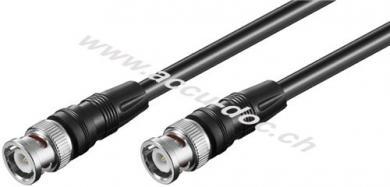 Video Verbindungskabel BNC (RG59), zweifach geschirmt, 3 m - BNC-Stecker > BNC-Stecker