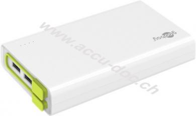 Powerbank 20.0 (20.000 mAh), Weiß - kompakt und kraftvoll mit 20.000 mAh und integriertem Anschlusskabel