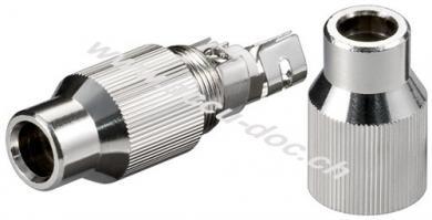 Koax-Kabelverbinder mit Schraubbefestigung - Metall