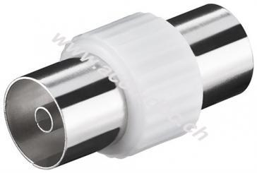 Koax-Adapter: Koax-Buchse > Koax-Buchse, 2 Stk. im Blister - Kunststoff