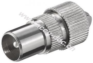 Koax-Stecker mit Schraubbefestigung - Metall
