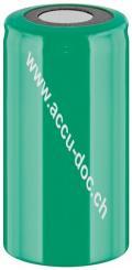 Sub-C, 2500 mAh, Flat-Top, Flat-Top PVC - Nickel-Metallhydrid Akku (NiMH), 1,2 V, PVC, Flat-Top