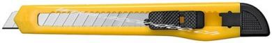 Mehrzweckmesser, Gelb - mit 9 mm Abbrechklingen, 130 mm x 10 mm