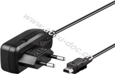 Mini USB Ladegerät 1 A, Schwarz, 1.5 m - Ersatz-Netzteil für viele Kleingeräte und Handys