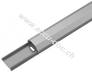 Halbrunder Aluminium-Kabelkanal 33 mm, Länge 1,1 m, Silber - zum unsichtbaren Verlegen von Kabeln