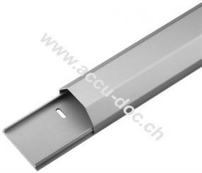 Halbrunder Aluminium-Kabelkanal 50 mm, Länge 1,1 m, Silber - zum unsichtbaren Verlegen von Kabeln