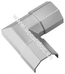 Kabelkanal-Eckverbindung, Silber - zur Erweiterung von Kabelkanälen