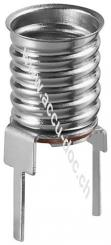 E10 Lampenfassung - max. 10 W/24 V (DC), Printmontage, vertikal (2-Pin)