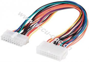 PC Motherboard ATX/EATX Stromkabel Verlängerung 20 Pin, 0.3 m - ATX 2.0-Stecker (20-Pin) > ATX 2.0-Buchse (20-Pin)