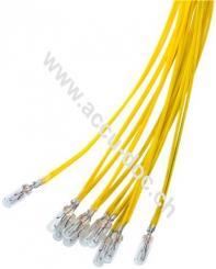 T1¼ Subminiatur-Glühlampe, 1,1 W, 1.1 W, Gelb, 0.3 m - Gelb, 0,3 m Kabel, 14 V (DC), 80 mA