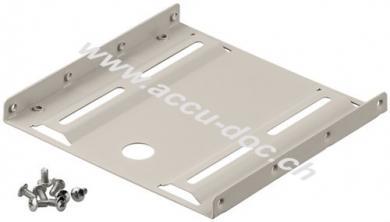 2,5'' Festplatten-Einbaurahmen auf 3,5'' - 1-fach, Beige - geeignet für die Installation einer 2,5'' Festplatte in einen 3,5'' Gehäuseschacht