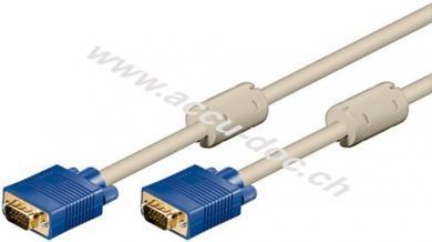 Full HD SVGA Monitorkabel, vergoldet, 10 m, Beige - VGA-Stecker (15-polig) > VGA-Stecker (15-polig)