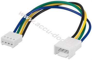 PC Lüfter Stromkabel Verlängerung, 4 Pin Stecker/Buchse, 0.15 m - Lüfter-Stecker (4-Pin) > Lüfter-Buchse (4-Pin)