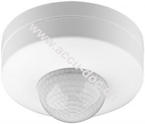 Infrarot Bewegungsmelder, Weiß - zur Aufputz-Deckenmontage, 360° Erfassung, 6 m Reichweite, für Innen (IP20), LED-geeignet, 3-fach Infrarot