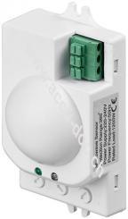 Mikrowellen-Bewegungsmelder, Weiß - Unterputzmontage, 360° Erfassung, 8 m Reichweite, für Innen (IP20), LED-geeignet
