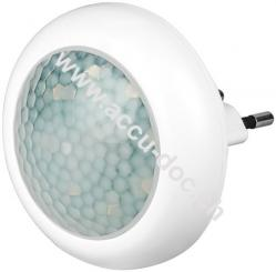 Kompakt LED-Nachtlicht mit Bewegungsmelder, Weiß - für Innen (IP20), 120 ° Erfassung, 9 m Reichweite, kalt-weiß