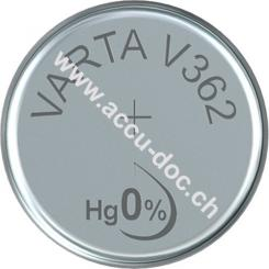 Professional Electronics SR58 (V362) - Silberoxid-Zink-Knopfzelle, 1,55 V Uhrenbatterie