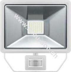 LED Außen-Flutlichtstrahler mit Bewegungsmelder, 50 W, Weiß - Lichtlösung für Hauseingänge, Zugangswege, Garten & Co.