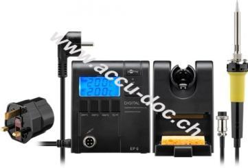 UK - Digitale Lötstation EP6, Schwarz - für alle anfallenden Lötarbeiten zu Hause, 50 Hz