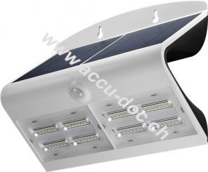 LED Solar-Wandleuchte mit Bewegungsmelder, 6,8 W, Weiß - Lichtlösung für Hauseingänge, Carports & Treppen