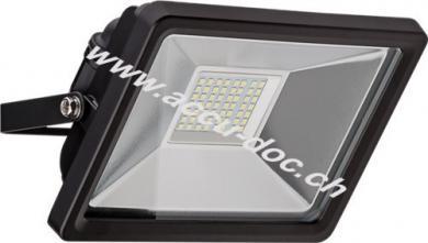LED Außen-Flutlichtstrahler, 30 W, Schwarz - Lichtlösung für Hauseingänge, Garten & Co.
