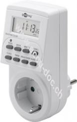 2er-Set: Digitale Zeitschaltuhr, 2 Stk. im Karton, Weiß - präzise und komfortable Steuerung von elektronischen Geräten