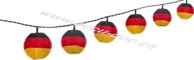 LED Lichterkette Deutschland, inkl. Netzstecker, Schwarz-Rot, 5.2 m - perfekte Beleuchtung für Sportevents der deutschen Nationalmannschaften
