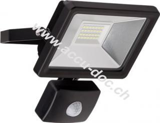 LED Außen-Flutlichtstrahler mit Bewegungsmelder, 20 W, Schwarz - Lichtlösung für Hauseingänge, Zugangswege, Garten & Co.
