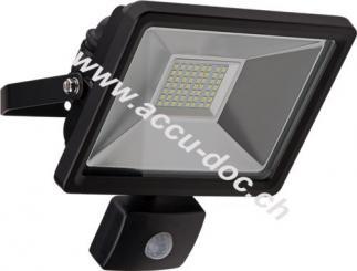 LED Außen-Flutlichtstrahler mit Bewegungsmelder, 30 W, Schwarz - Lichtlösung für Hauseingänge, Zugangswege, Garten & Co.
