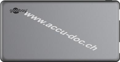 Quick Charge 3.0 Powerbank 5.0 (5.000 mAh), Schwarz-Grau, 0.3 m - superschnelle Ladetechnik mit Quickcharge QC3.0 und USB-C™
