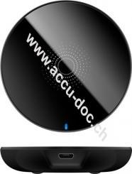 Kabelloses Ladegerät 5 W, Schwarz, Schwarz, 1 m - für Smartphones und Geräte mit Qi-Standard