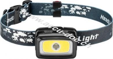 LED-Stirnlampe High Bright 240, Schwarz - ideal für Freizeit, Sport, Camping, Angeln, Jagd und Pannenhilfe