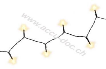 24er LED-Lichterkette, inkl. 8 Funktionen, Schwarz - Stimmungsvolle Leuchtdekoration für den Innen- und Außenbereich