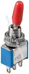 Kippschalter Miniatur, Blau - EIN-EIN, mit Lötösen