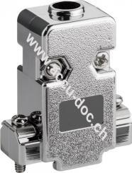 SUB-D Haube, metallisierter Kunststoff - 9-polig